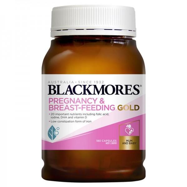 Blackmores - Pregnancy & Breast-Feeding Gold - Vitamin cho phụ nữ có thai và cho con bú 180 viên