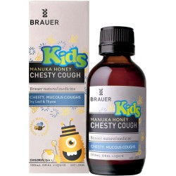 Brauer - Trị  ho cho bé – Honey Kids Manuka Honey Chesty Cough 100ml