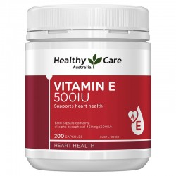 Healthy Care Vitamin E 500UI hỗ trợ sức khỏe tim mạch