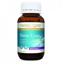 Herbs of Gold - Sleep Ease - Thuốc hỗ trợ điều trị mất ngủ, stress hộp 60 viên