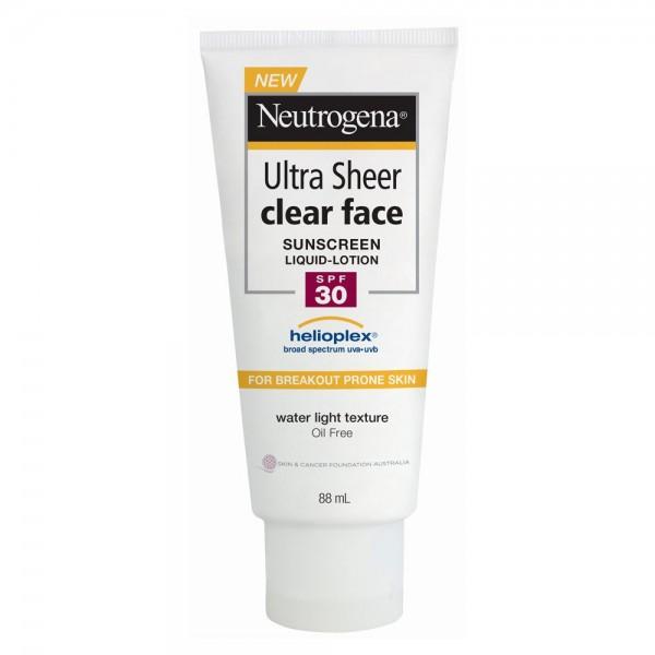 Kem chống nắng Neutrogena Ultra Sheer Clear Face Sunscreen Liquid-Lotion SPF50 88ml