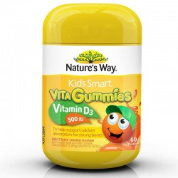 Nature's Way - Kẹo Dẻo Kids Smart Vita Gummies Vitamin D3 500 IU
