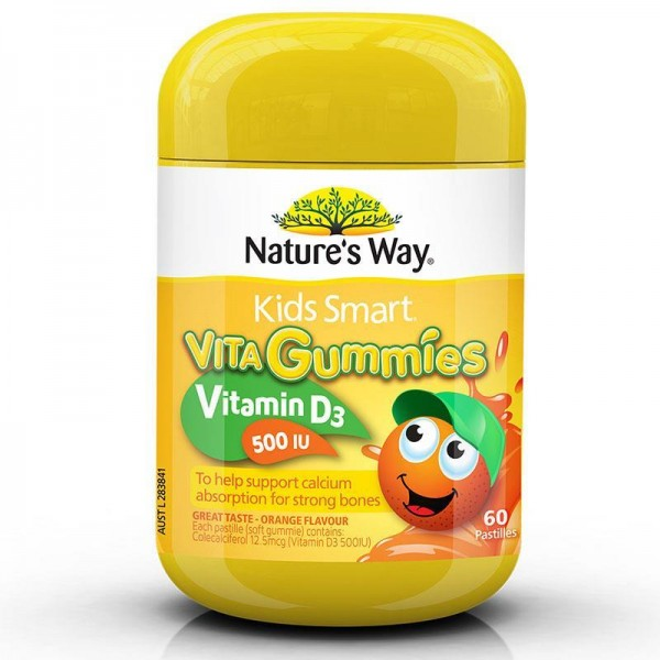Nature's Way - Kẹo Dẻo Kids Smart Vita Gummies Vitamin D3 500 IU