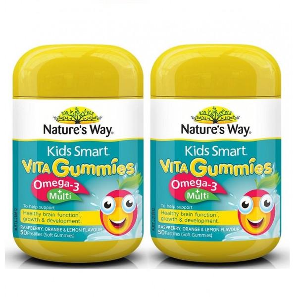 Nature's Way - kẹo dẻo Kids Smart Vita Gummies Multi + Omega 50 viên