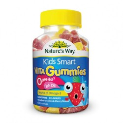 Nature's Way - Kẹo dẻo Kids Smart Vita Gummies Omega 3 dầu cá 60 Viên