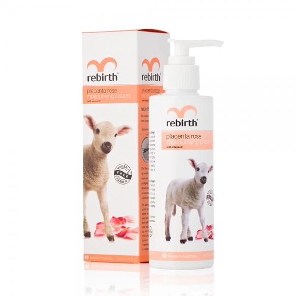 Rebirth Placenta Rose Moisturising Cream - Sữa dưỡng thể Nhau thai cừu tinh dầu hoa hồng 200ml