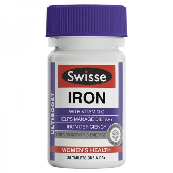 Swisse Ultiboost Iron - sắt 30 viên