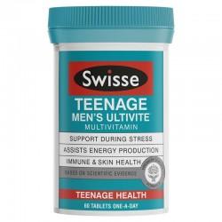 Swisse - teenage ultivite men's multivitamin - Đa vitamin cho thanh niên nam 60 viên