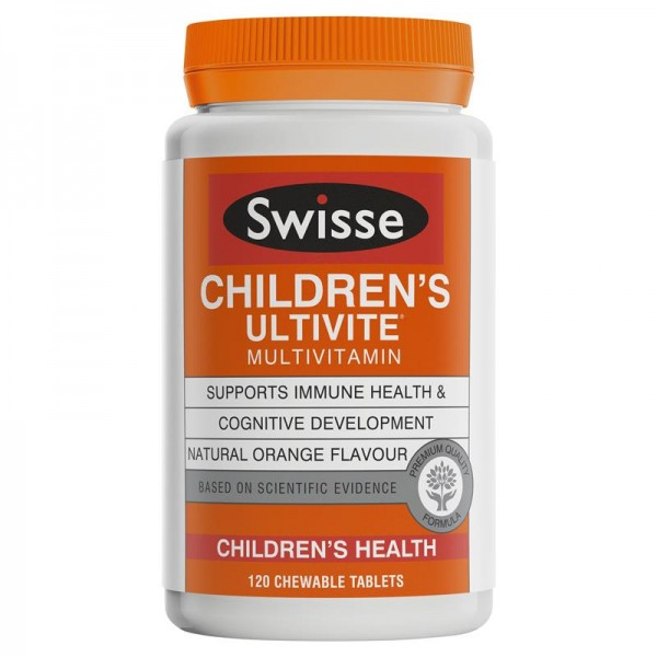 Swisse Children's Ultivite Multivitamin - Vitamin tổng hợp cho trẻ em 120 viên nhai