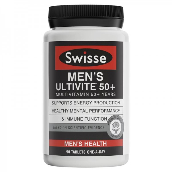 Swisse - Men's Ultivite 50+ Multivitamin - Đa vitamin cho nam giới trên 50 tuổi 90 viên
