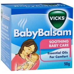 Vicks - Dầu bôi cho bé Baby balsam – Phòng ho, cảm lạnh và giữ ám cho bé trong suốt mùa đông